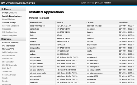 IBM DSA Installed Applications